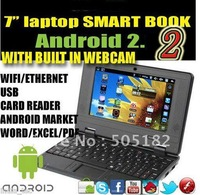 Hot selling !! 7 inch android 2.2 VIA8650 mini wifi laptop notebook netbook +touch screen +Free shipping +drop shipping