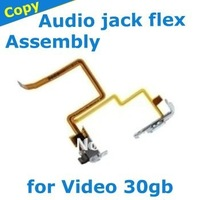 audio jack flex cable with hold switch for iPod Video 30gb white, free shipping