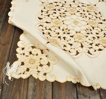"76x76cm(30X30"") Beige Color Handmade Cutworking  Table cloth"