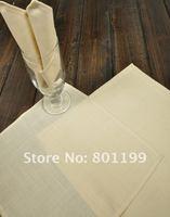50% OFF      Soft Beige Color Polycotton  Napkins 12X12 Inch   (28x28cm)