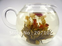 20 Handmade Blooming Flower Flowering Green Artistic Tea Ball FREE P&P HOT ITEM,20 PCS Blooming tea