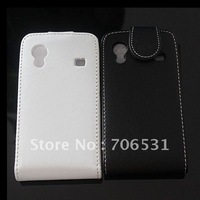 Flip Leather Case for Samsung Galaxy Ace S5830, High Quality, Free Shipping
