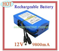 NEW! DC 12V 9800mAh Rechargeable Li-ion Battery for CCTV Camera Long time working Free shipping