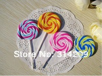 New Cute Lollipop Design Eraser, Lovely Eraser,  Kids Gift -Children Cute Rubber Eraser/Wooden Pencil Earser, 12pcs/lot