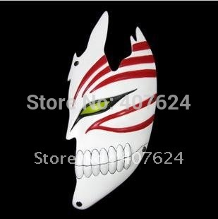 2012 Free Shipping Drop Shipping Black/Red 160g Hotest Resin Cosplay Half-face death mask 12*27.5cm(China (Mainland))
