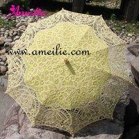 Свадебный зонтик White Battenburg Lace Ruffle Wedding Bridal Parasol Umbrella