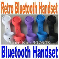 wholesale Retro mini bluetooth handset headset bluetooth earphone for Iphone ipad Nokia and any mobile phone VHBH03 FreeShipping