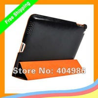 10pcs/lot PC DiscoverBuy CONTRAST COLOR PU Leather Case/Cover for ipad2/ipad3 + DHL Free shipping