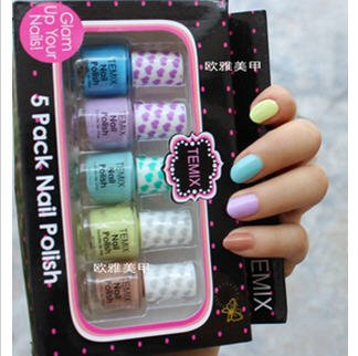 2012 Europe and America TEMIX nail polish candy colorful nail set A089
