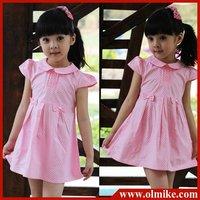 Free shipping 3pcs/lot hot sale beauty Children's casual cotton dress kid's summer wear girls dress (Pink,5# 7# 9# 11#) CD012