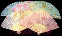 12pcs Handcraft Asian Chinese Silk folding Bamboo Fans 03