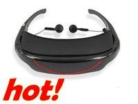 Fashion hot video eyewear 72inch (16:9) virtual reality video eyewear +4GB memory+AV-in. DHL free shipping