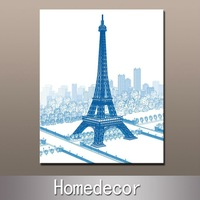 1pcs Eiffel Tower polyester canvas painting modern wall art canvas printing print on canvas for home/office decoration