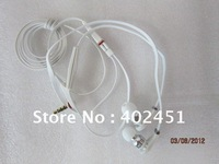 wholesales white in ear headphone with mic ,high quality stereo headphones+free shipping