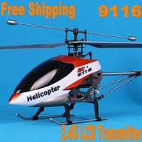 Free Shipping from Sweden! Double Horse 9116 RC Helicopter 4 CH 2.4G RTF w/ Gyro LED Light LCD Transmitter