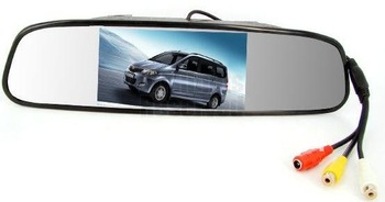 """4.3"""" 4.3 inch TFT LCD Color Car rear view mirror monitor car video DVD player video car audio monitor for Car Reverse camera"""