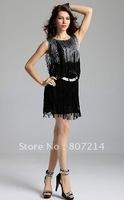 New Lady Women's Summer Wear Sleeveless Dynamic Tassels Dress