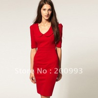 Sexy women's fashion bodycon chic solid chic fit slim elegant casual formal party club wear brand ladies dresses SX7977