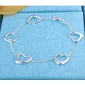 H213 factory price fashion 925 silver bracelet jewellry silver heart charms bracelets