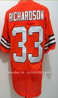 Free Shipping!!! 2012 new style #33 Trent Richardson orange jersey