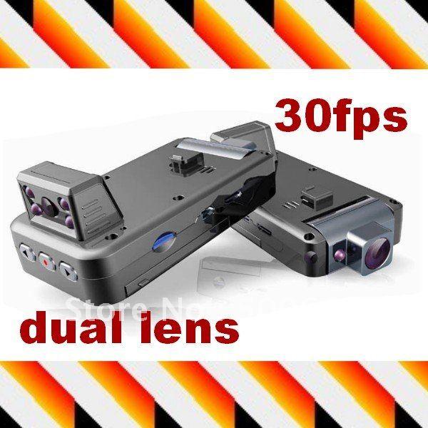 """Автомобильный видеорегистратор Dual Camera HD Car DVR 2.0"""" TFT Color LCD Day+Night vision Powerful Car Audio Video Recorder"""