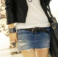 Punk Style New Arrive Popular Dew Bag Cowboy Short Skirt  Women Causal Jean  Mini Short Dress S.M.L