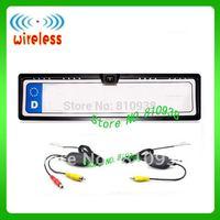 2.4G wireless European license plate frame camera,rear view camera,car reversing backup kit,car camera