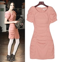 High quality lady dresses 2012 celebrity garments Bc7208 new arrival one piece Pink 3 sizes