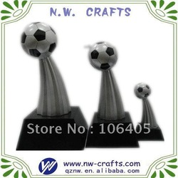 "resin football soccer trophy 6""(China (Mainland))"