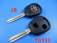 Toyota Key Shell 2 Button Toy43.. LOCKSMITH TOOL auto transponder key,remote key shell