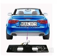 Free Shipping waterproof  TV System Europen Plateframe rear view car camera(CL-CMD-23-121)