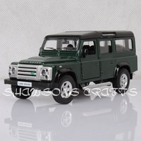 DIECAST METAL 1:36 MODEL CAR TOYS SOUND & LIGHT PULL BACK ROVER DEFENDER OFF ROAD REPLICA