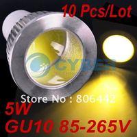 New 5W GU10 High Power COB LED Spot SMD Warm White Light Led Bulb Lamp 85V-265V free shipping