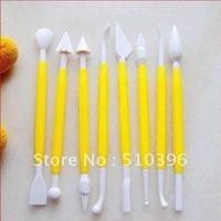 Supply Fondant Cake 8pcs Sugar Flower Carving Set of Tools (good material.)