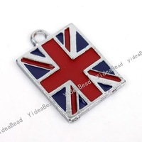 Free Shipping Wholesale 15pcs Charms Alloy  England Flag Enamel Pendants Fit  Fashion Jewelry DIY 141338