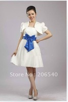 Wedding dress fittings/the bride thin shawls/the bride rice white short-sleeved satin small shawls