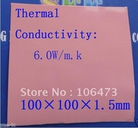 Free Shipping 100x100x1.5mm Thermal Pad Silicone Heatsink Conductive Pad for CPU GPU VGA Chipset