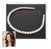 2013 Hot Sale Fashion Free shipping 12pcs/lot Bridal girls  Pearl HairBand