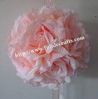 30cm pink foam center artificial kissing wedding decoration flowers ball