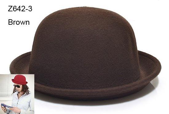 Женская фетровая шляпа Top Hat Cloche CapLadies  Z642 женская фетровая шляпа brand new 2015 fedora cloche hat cap 6 bm890