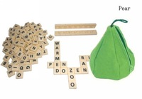Free Shipping Wholesale 120pack/lot Scrabble Game Pear Crossword Word Anagram