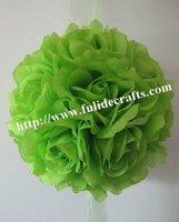 30cm green foam center artificial kissing wedding decoration flowers ball