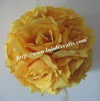 30cm orange foam center artificial kissing wedding decoration flowers ball