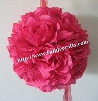 30cm plum foam center artificial kissing wedding decoration flowers ball
