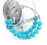 Браслет из бисера VIP privilege: larger discount $0.58/ PCS, 20pcs/ lot, Shamballa Bracelet, 9 pcs resin rhinestone beads, mixed colors