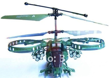 Wholesale rc toy JH 3.5CH Avatar Gunship super ruggedness infrared  RC helicopter Gyro USB RTF ,as F103 / Z008 +Free shipping