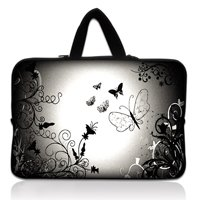 17&quot; 17.3&quot; Flying Butterfly Neoprene Laptop Carrying Bag Sleeve Case Cover Holder+Hide Handle For HP Dell(China (Mainland))