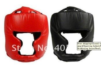 Free shipping Closed type boxing head guard/Sparring helmet/MMA/Muay Thai kickboxing brace/Head protection/1pcs