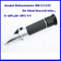 Hand Held Refractometer For Alcohol wine refractometer 0~60%,60~80% V/V free shipping cost Offer 2 years warranty