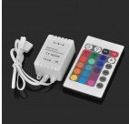Shop RGB LED Strip Control Box w/ IR 24-Key Remote Control (DC 12V)